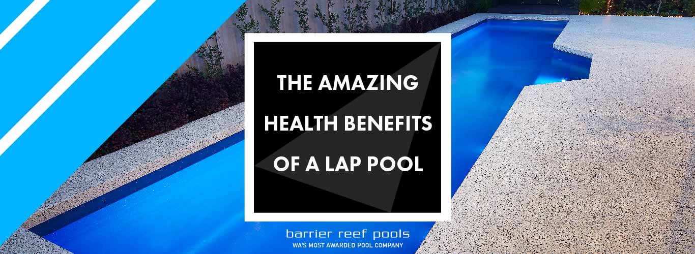 the amazing health benefits of a lap pool banner